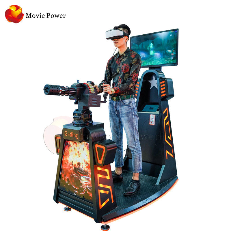 1 Players Indoor Virtual Reality Shooting Machine Simulator Customized Color